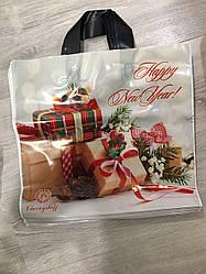 Новогодний пакет с петлевой ручкой 36*34, 10 шт