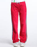Брюки спортивные женские adidas RLIN Q34 O03891 (розовые, хлопок, прямые,свободные, затяжки-шнурки, адидас), фото 1