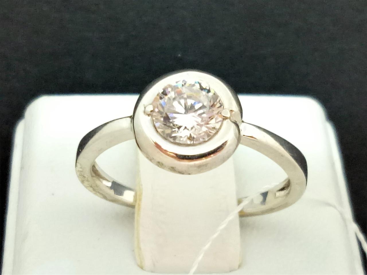 Серебряное кольцо с фианитом. Артикул КВ637С 17