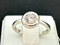 Серебряное кольцо с фианитом. Артикул КВ637С 17, фото 1