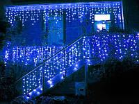 Гирлянда бахрома LED 120 лампочек с коннектором: длина 3,5м Синяя