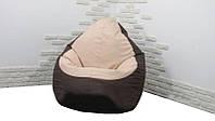 Кресло мешок груша PufOn, Оксфорд XL, Коричневый, Бежевый