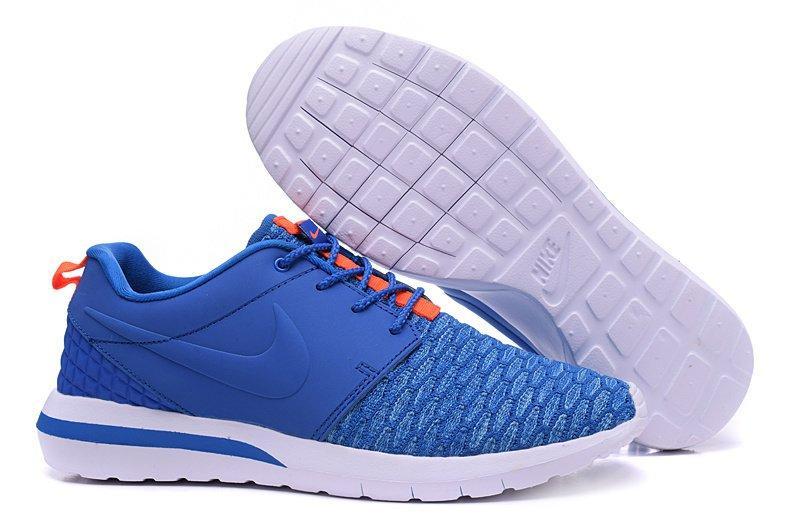 f2206d2c Мужские кроссовки Nike Roshe Run 3M Flyknit Blue Orange | найк роше ран  синие - Интернет