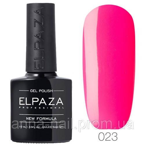 Гель лак ELPAZA  023 Розовый неон, 10 мл