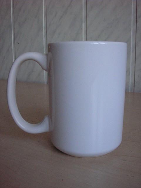 Чашка для сублимации белая 425 мл (серия PREMIUM).