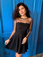 Женское нарядное платье с юбкой клеш (3 цвета), фото 1