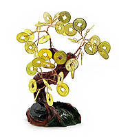 Дерево с монетами 11см,деревья счастья, декоративные деревья,искусственные бонсаи,товары для дома