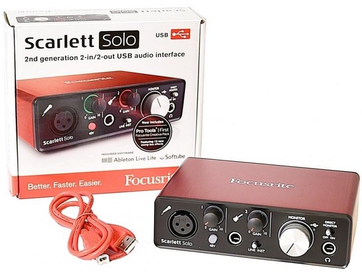 Аудіоінтерфейс Focusrite Scarlett Solo 3Gen