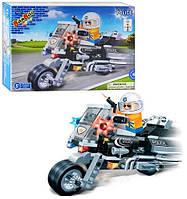 Конструктор BANBAO 8351 полицейский мотоцикл, фигурка, 140 дет, в кор-ке, 28-19-5,5см