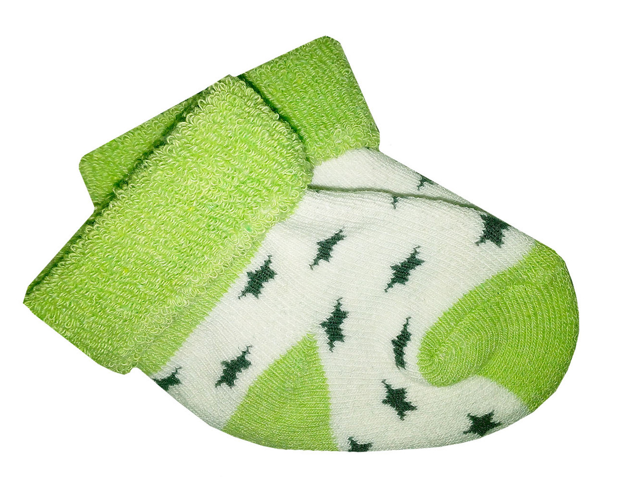 Носочки теплые махровые Biedronka  0-3 мес (зеленый)