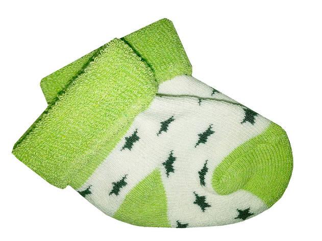 Носочки теплые махровые Biedronka  0-3 мес (зеленый), фото 2