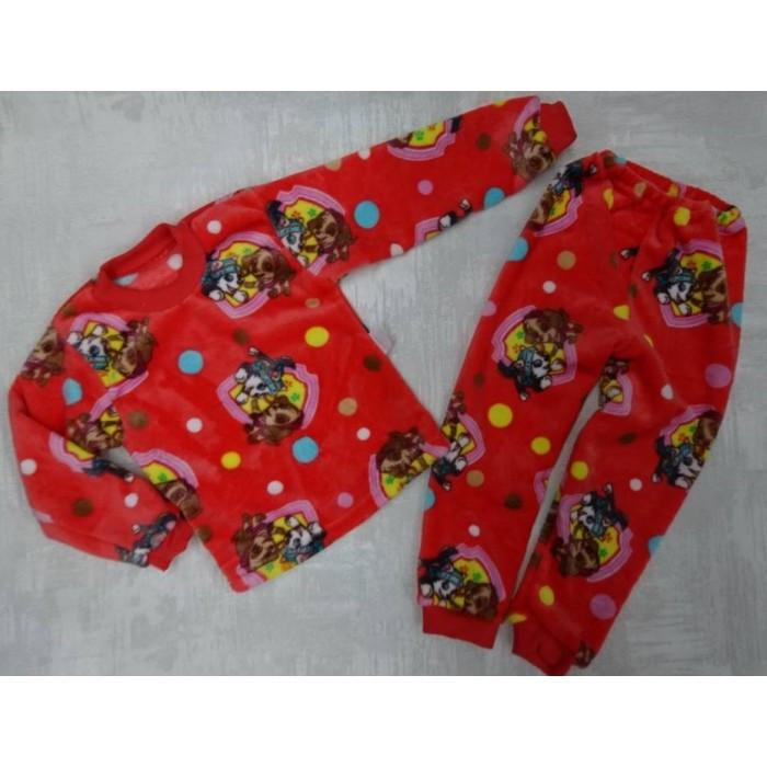 Красивая пижама для мальчика из велсофта принт Щенячий патруль 30-36 р, детские пижамы оптом от производителя