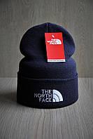 Мужская  шапка темно-серая The North Face Зе Норт Фейс   (реплика)