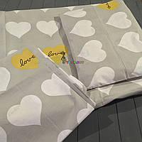 Постельный набор в детскую кроватку (3 предмета) Сердечки, фото 1