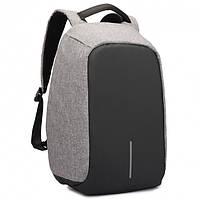 Рюкзак Bobby АНТИВОР с защитой от карманников и с USB зарядным устройством (серый)