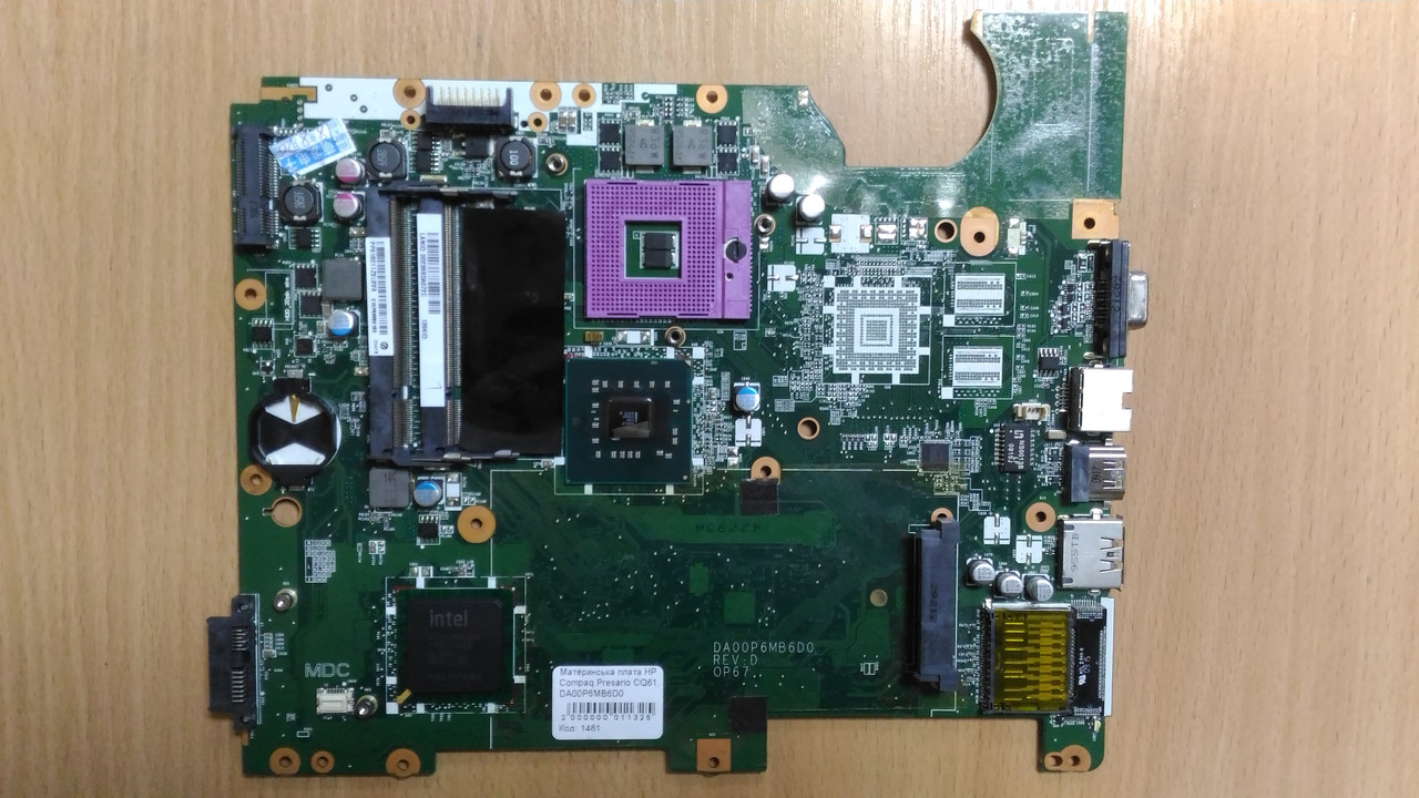 Материнская плата для ноутбука HP Compaq Presario CQ61, DA00P6MB6D0
