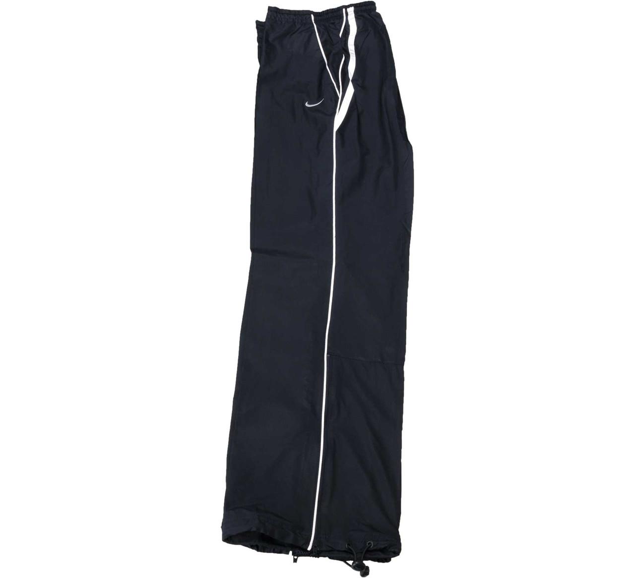 Брюки спортивные женские Nike Ws Woven Pant 296497 452 (черные, плащевка, для тренировок, прямые, бренд найк)