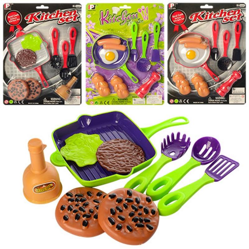 427ec8db2891e Игрушечный набор: Посуда сковородка, кухон.набор,продукты,2вида(2цвета)
