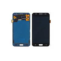 Дисплей для SAMSUNG J500 Galaxy J5 с чёрным тачскрином БЕЗ ЛОГОТИПА (ID:16795)