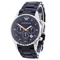 Мужские наручные часы Emporio Armani AAA AR-5905 сталь с черным циферблатом  (20089) f73ef53f195