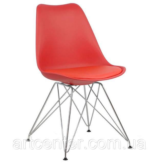 Стул для офиса, стул пластиковый для посетителей, стул для кафе (стул Тауэр C красный)