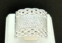 Серебряное кольцо с фианитами. Артикул КВ700С 18, фото 1