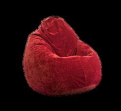 Безкаркасне крісло мішок Флок PufOn, L, Червоний, Червоний