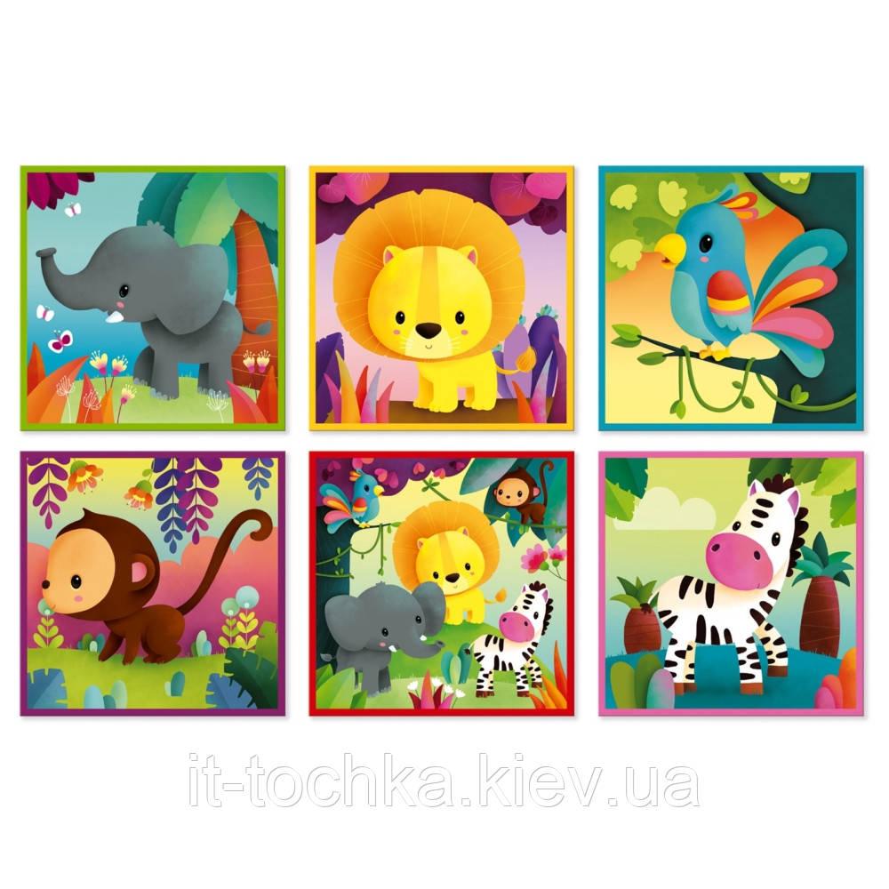Развивающие кубики janod j02732 Животные из джунглей на 9 элементов