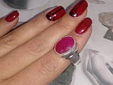 Красивое кольцо с камнем рубин 17,5-18 размер. Кольцо с рубином. Индия!, фото 3
