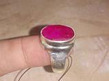 Красивое кольцо с камнем рубин 17,5-18 размер. Кольцо с рубином. Индия!, фото 4
