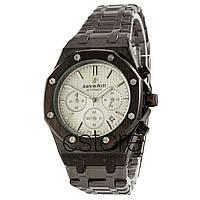 cacf4985bbd6 Мужские часы копия часы Audemars Piguet Royal OAK Chronograph черный с  белым циферблатом (20202)