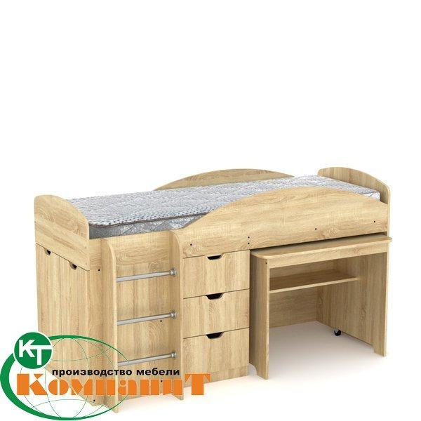 Ліжко двоярусне Універсал дуб сонома