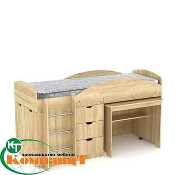 Кровать двухярусная Универсал  дуб сонома