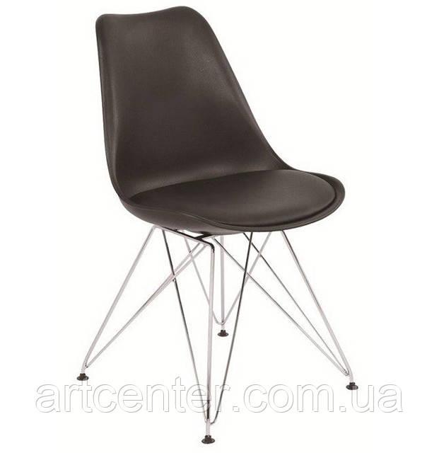 Стул для офиса, стул пластиковый для посетителей, стул для кафе (стул Тауэр C черный)