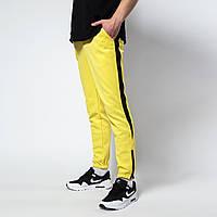 Спортивные штаны мужские жёлтые с лампасами бренд ТУР модель Рокки (Rocky) размер XS, S, M, L