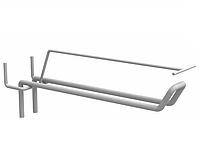 Крючок двойной с ценникодержателем для перфорации.  Крючки для торгового оборудования, фото 1