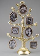 Рамка для фотографий дерево металлическое (26 см)