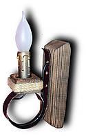 Бра из натурального дерева на 1 лампу