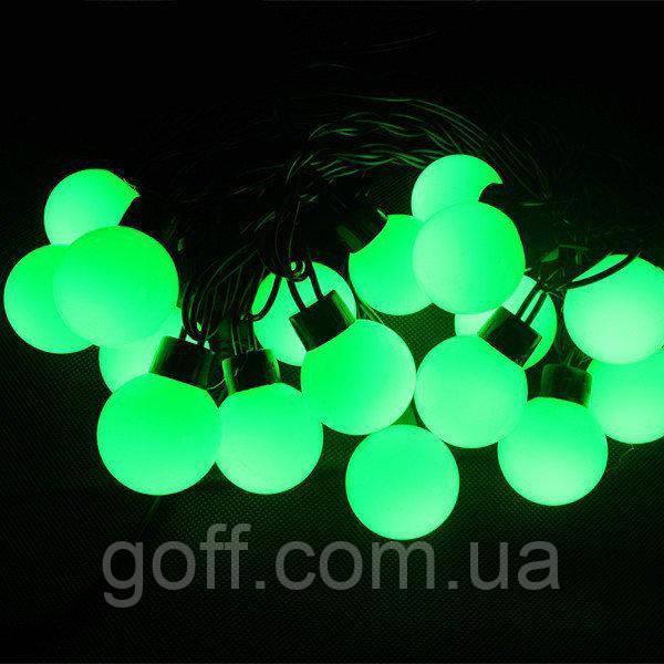 Гирлянда ШАРИКИ 50 LED 16mm 6 метров зеленые