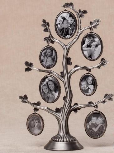 Рамка для фотографий дерево металлическое (27 см)