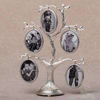 Рамка для фотографий дерево металлическое (19 см)