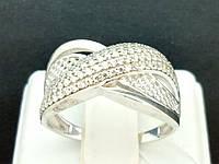 Серебряное кольцо с фианитами. Артикул КВ673С 17,5, фото 1