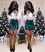 Женская мини юбка из пайеток, фото 1