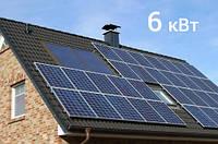 Гибридная солнечная электростанция 6 кВт