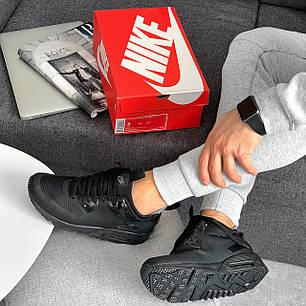 """Зимние кроссовки Nike Air Max 90 Mid """"Black"""" (Черные), фото 2"""