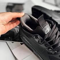 """Зимние кроссовки Nike Air Max 90 Mid """"Black"""" (Черные), фото 3"""