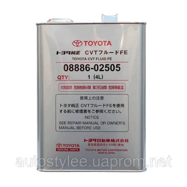 Масло трансмиссионное Toyota CVT Fluid FE (0888602505) 4 л.