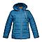 Куртка женская синяя батал K227G