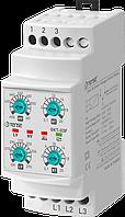 Реле контроля напряжения 3-х фазное / реле контроля напруги 3 фазне купить со склада супер цена, аналог РНПП без контроля нуля, контроль последовательности фаз