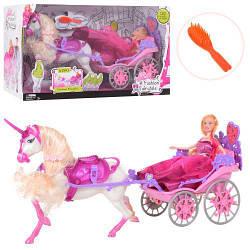 Карета Принцессы с лошадкой и принцессой, код М-83263
